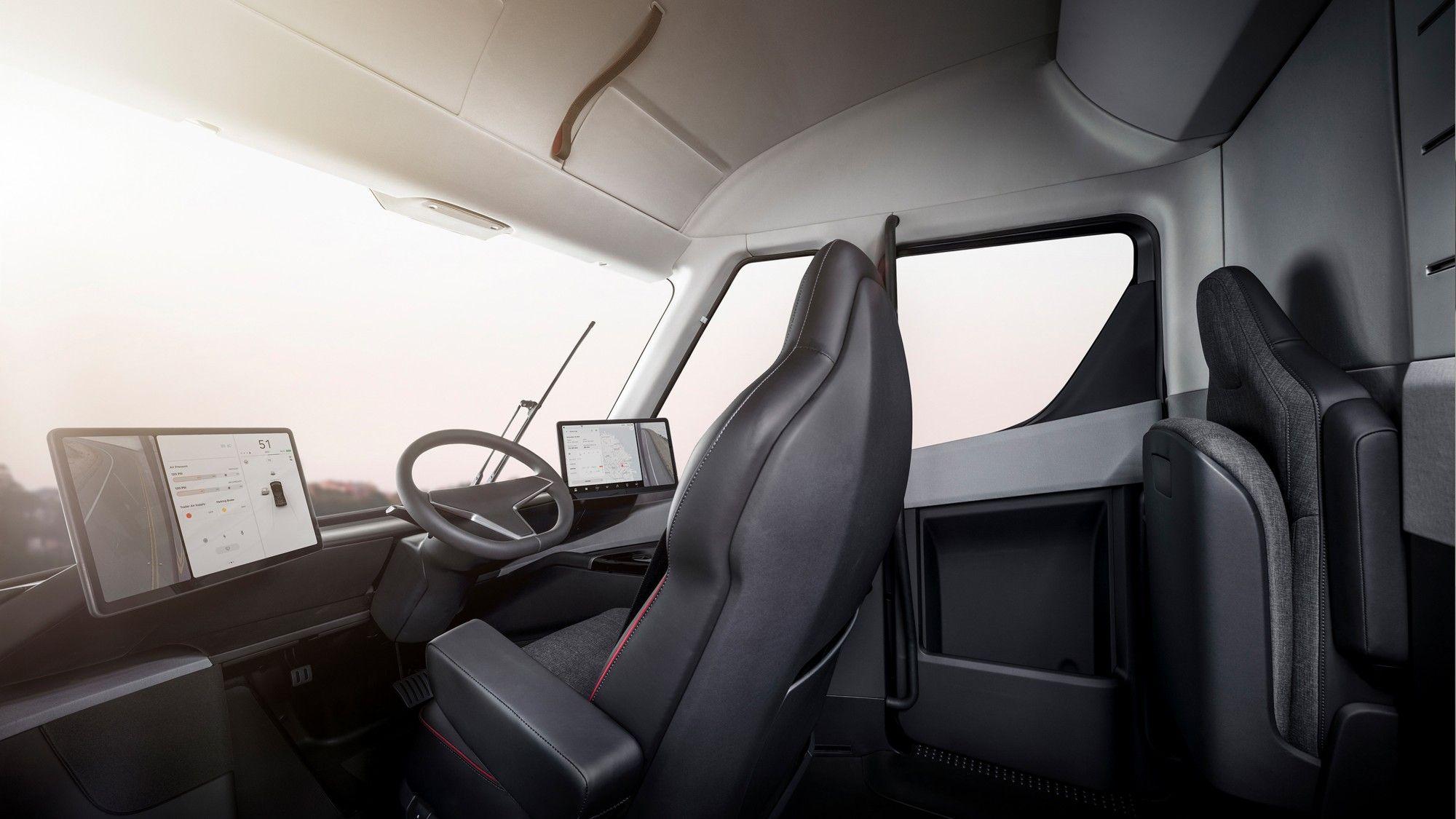 interieur Tesla Semi