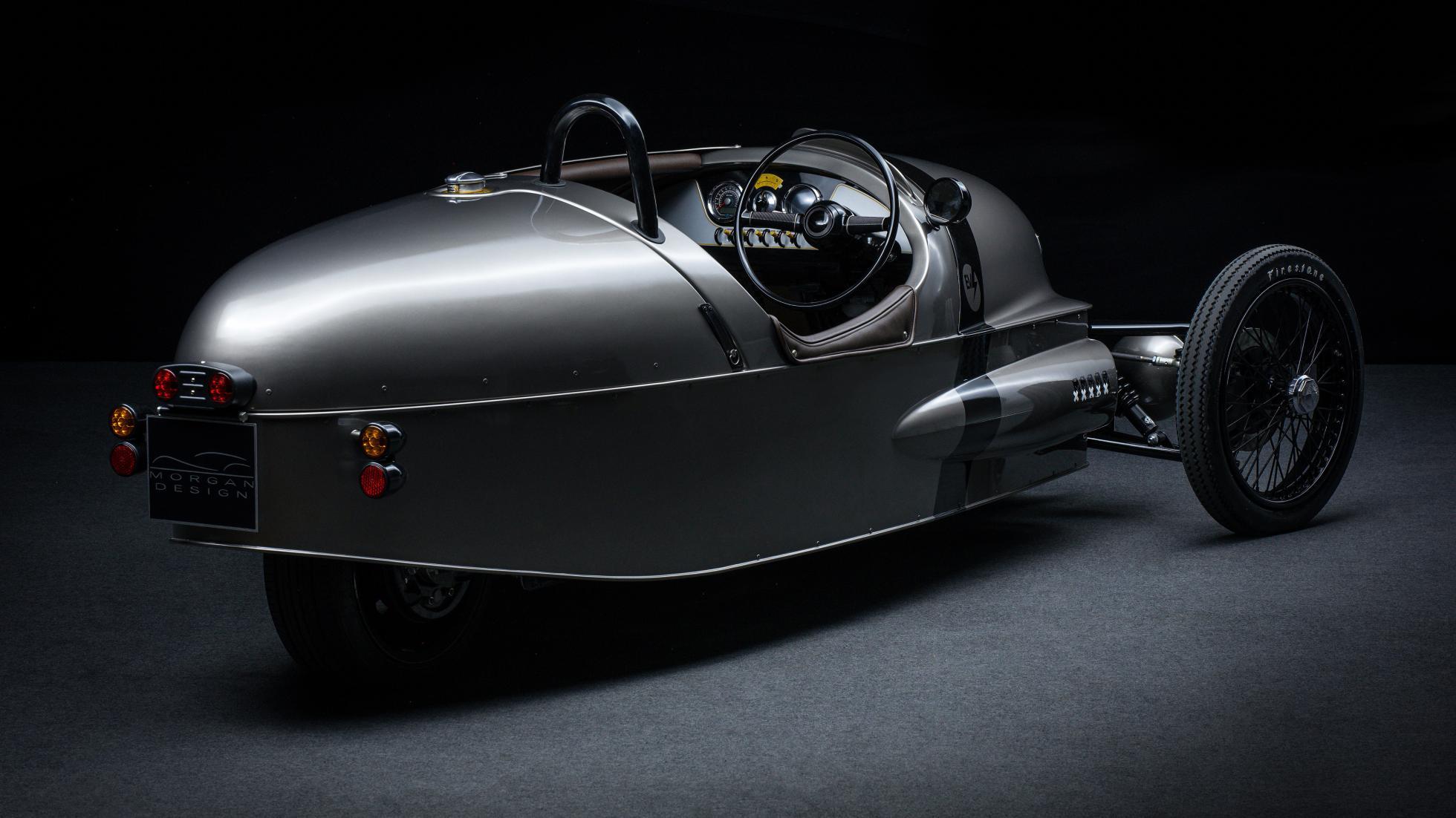 la voiture de course lectrique 3 roues morgan ev3 entrera en production en 2018. Black Bedroom Furniture Sets. Home Design Ideas