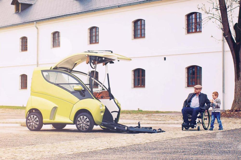 elbee une citadine con ue sp cialement pour les conducteurs handicap s. Black Bedroom Furniture Sets. Home Design Ideas